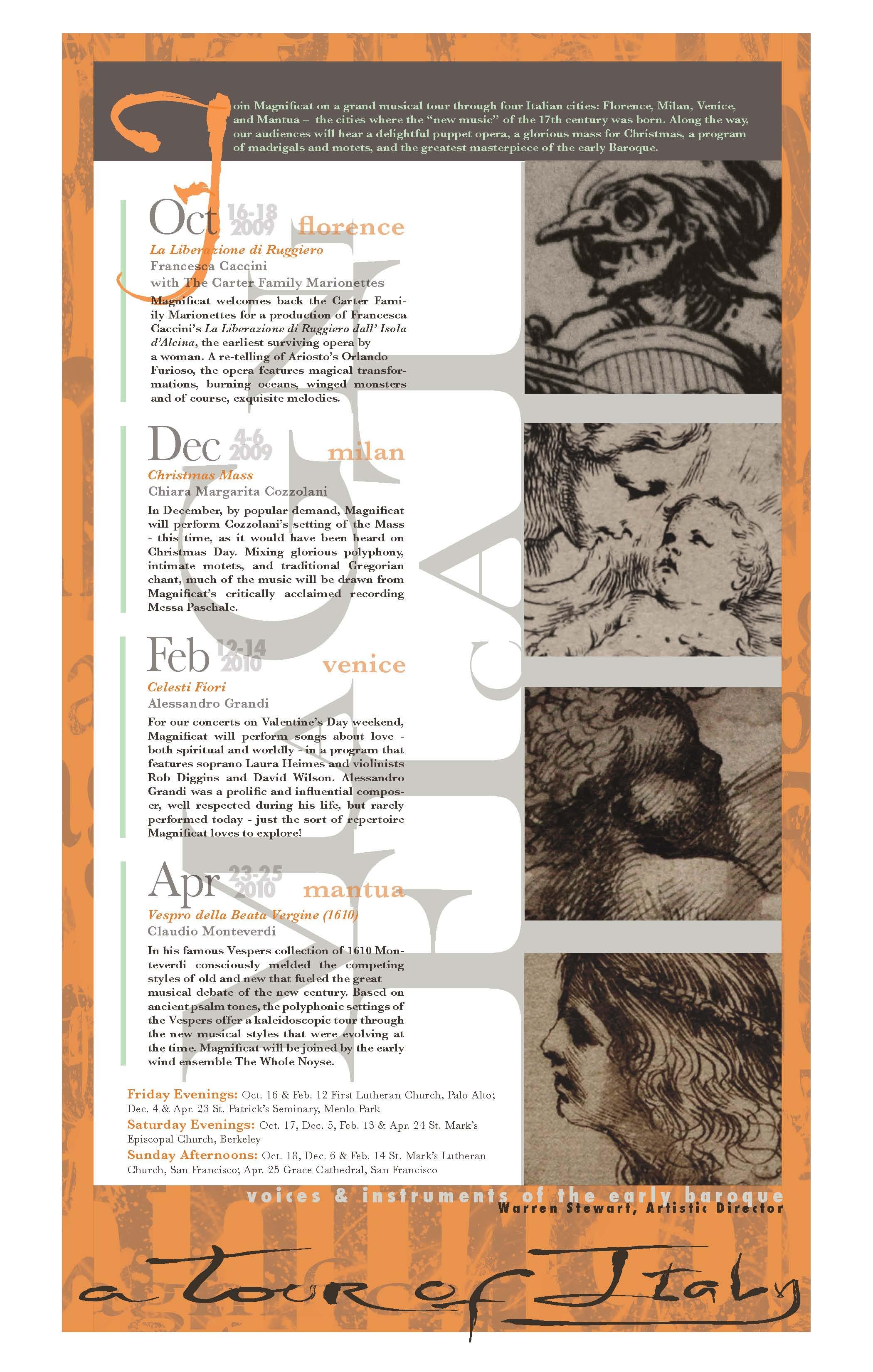 Magnificat 09-10 Season Poster by Nika Korniyenko