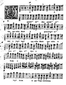 O Praeclara dies Page 1